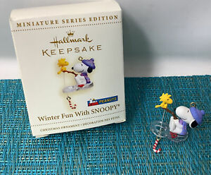 "2006  ""Winter Fun with Snoopy"" The Peanuts Gang, Hallmark MINIATURE ornament"