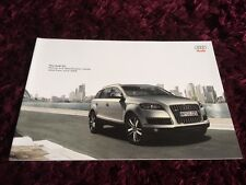 Audi Q7 Brochure 2010 - June 2009 issue
