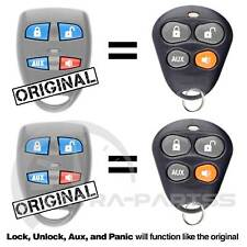 2 New Replacement Automate 4B Keyless Entry Remote Car Key Fob For EZSDEI476