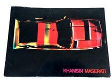 1974 Maserati Khamsin Original Car Sales Brochure Catalog Folder