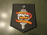 DEATH BEFORE DISHONOR PATCH - USMC, ARMY, Skull & Sword Shoulder Patch Military