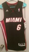 3c7c199850dd LeBron James Miami Heat Nba Jersey Men S Adidas Authentic Sewn  6 King Hwc  Nwt