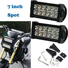 7 inch Double Row Spot LED light bar 2014-2016 Honda Grom Motorcycle headlight