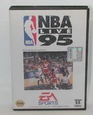 Sega Genesis EA Sports NBA Live 95, Works. Game, Case and Instruction Manual R13