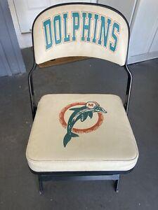 Miami Dolphins Locker Room Chair Throwback Logo