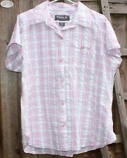Regatta Size 18 100% Cotton Pink, Blue & White Check Blouse