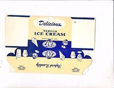 Vintage Sutherland Paper Co. Vanilla Ice Cream Carton-PINT-KALAMAZOO MICHIGAN