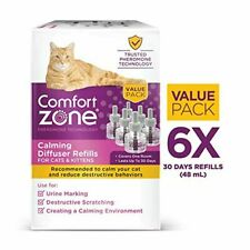 6-Pack Comfort Zone Feliway 48 ml Refill for Diffuser Cat Behavior Stress Relief