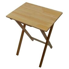 Folding Snack Table Small Portable Wood Wooden Laptop Desk TV Camping Porch Tea