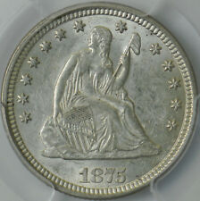 1875 Seated Liberty Quarter AU 58 PCGS