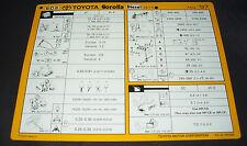 Inspektionsblatt Toyota Corolla Diesel CE 110 Werkstatt Service Blatt 05/1997!