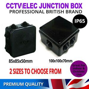 Weatherproof Junction Box Case IP65 Waterproof Black for Outdoor Electric CCTV