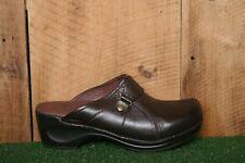 SANITA Brown Leather Split Toe Mules Clogs EUR 41   Approx. US 10