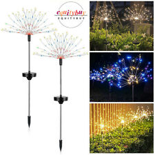 90/120/150 LED Solar Firework Lights Outdoor Pathway Garden Decor Copper Lamp