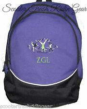 Gymnastics PURPLE School Backpack Book Bag PERSONALIZED monogrammed NEW