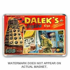 RETRO 1960's -DOCTOR WHO - featuring DALEKS JIGSAW BOX ART JUMBO FRIDGE MAGNET