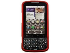 Rubberized Plastic Case Red For Motorola Droid Pro