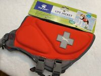 Top Paw RED NEOPRENE dog pet life vest jacket Sm Girth 20 inch Weight 15-30 lbs