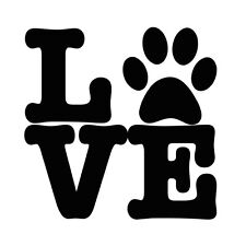 Love Paw Print Pet Dog Puppy Animal Car/Wall Etc.. Vinyl Decal 12 Color