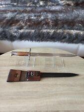 Swiss Bayonet Knife M1889/18 Schmidt Rubin Scabbard Frog 1WW 2WW  NEUHAUSEN SIG