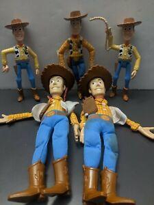 Lot of 5 Vintage 1995 Cowboy Woody Toy Story Doll Burger King Disney Pixar Plush