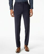 $321 Calvin Klein 32W 30L Men's Blue Skinny Fit Wool Suit Solid Trousers Pants