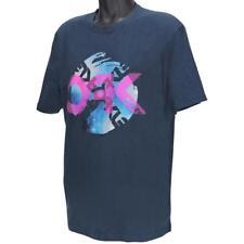 Oakley DARKSIDE T-shirt Size XXL Navy Blue Regular Fit Mens Print Cotton Tee