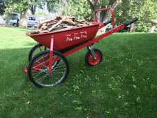NEW 7cu.ft.Three Wheel Wheelbarrow 4 Safety Features Solid Rubber Tires 1 handed
