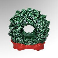 "Vintage Tampa Bay Mold Co Ceramic Christmas Wreath Napkin Holder 5""T"