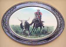 Belt Buckle Barlow Reproduction  Cowpunching Cowboy Horse Cowpunching 592411c