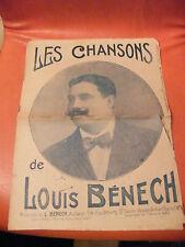 Partition Les Chansons de Louis Bénech 1925