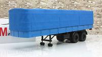 Scale car 1:43, Semi-trailer MAZ-5205, blue/blue 1972
