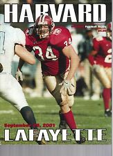 2001 Harvard vs Lafayette Football Program  - Ex Mint