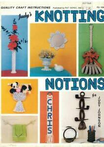 Knotting Notions Macrame PATTERN Quick & Easy to Make with Scrap Amounts of Cord