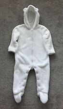 The Little White Company Fleece Romper Suit Size 12-18 Months