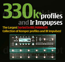 KEMPER 333k+ totale ordinati in Rig Manager RACCOLTA PROFILI Pack & ircabinet