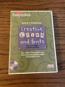 Creating Keepsakes Creative Clips and Fonts software