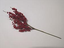 künstlicher Beerenzweig Beeren rot Kunstpflanze Kunstblume 60 cm 23799 F22