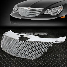 FOR 07-10 CHRYSLER SEBRING CHROME DIAMOND MESH FRONT BUMPER UPPER GRILLE GUARD