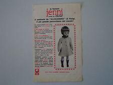 advertising Pubblicità (ANNI '60) BAMBOLA JENNI ITALOCREMONA ITALO CREMONA