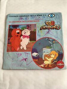 Vinyle, 45 tours :  LA CHANSON DES ENTRECHATS, Chanson Originale de la série TV