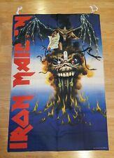 Iron Maiden 1988 7th Son Flag Rare Vtg Tapestry Poster tour t shirt guitar tix