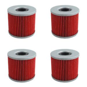 4 PCS Oil Filter For Suzuki GS550L GS550E GS650G GS650GL GS750E GS850G NEW
