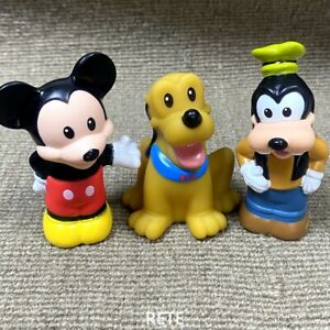 3PCS Little People Disney Mickey Mouse w Pluto and Goofy Figures Kids Toys Gift
