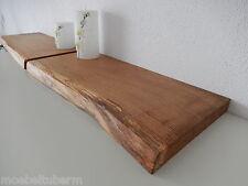 2xWandboard Eiche Wild Massiv Holz Board Regal Steckboard Regalbrett Baumkante