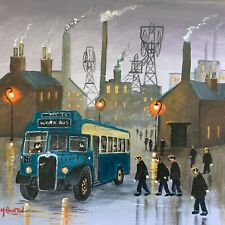 More details for mal.burton original oil painting.  home time   northern art direct from artist