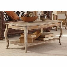 Rustic Reclaimed Drift Wood Coffee Table Living Room Center Accent Distressed