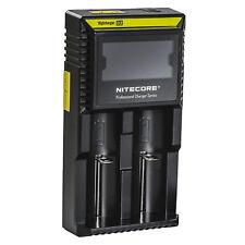 Nitecore Digicharger D2 Ladegerät für Li-Ion NiMH NiCd LIFePo4 Akkus 18650 26650
