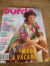 MAGAZINE BURDA EN VACANCES MODE CREME ET CHOCOLAT ROBES BARBIES.1993