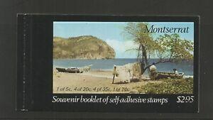 Montserrat 1975 Carib Artefacts Self Adhesive Booklet UMM SG 343/6